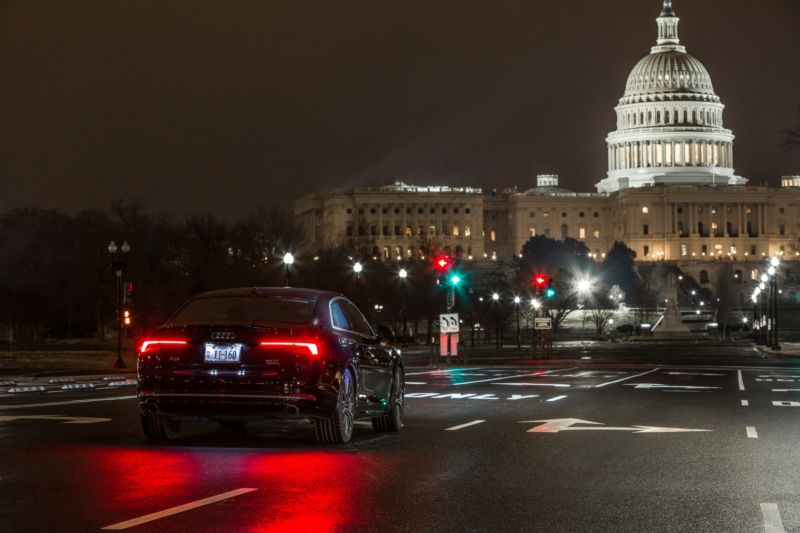 The traffic signals in Washington, DC, can now talk to your car—if it's an Audi