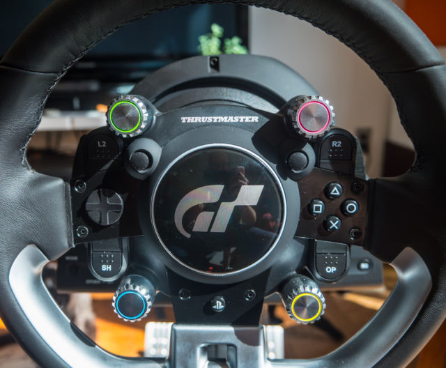 The Thrustmaster T-GT is a great—if expensive—wheel for the
