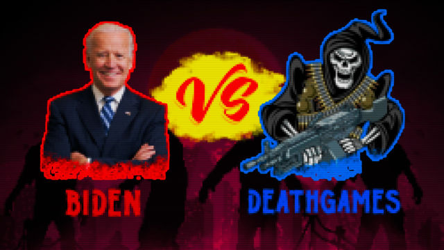 """""""DEATHGAMES"""" is a wholly original character representing gaming's image in certain corners. Image and concept (c) Ars Technica, All Rights Reserved. (Also... maybe violence in video games has been discussed once or twice in the US)"""