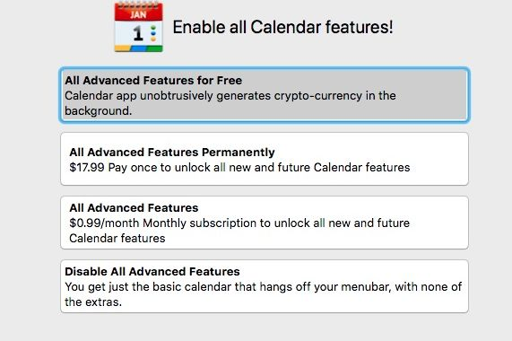 photo image There's a currency miner in the Mac App Store, and Apple seems OK with it