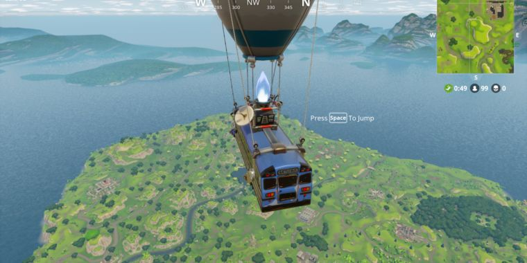 Fortnite battle royale will have the same gameplay on mobile devices updated ars technica - Ars manufacti mobel ...