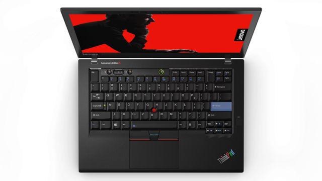 The ThinkPad 25's seven-row keyboard.