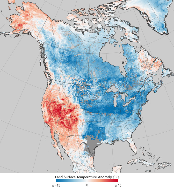 Temperatures at the start of 2018—a familiar pattern as of late.
