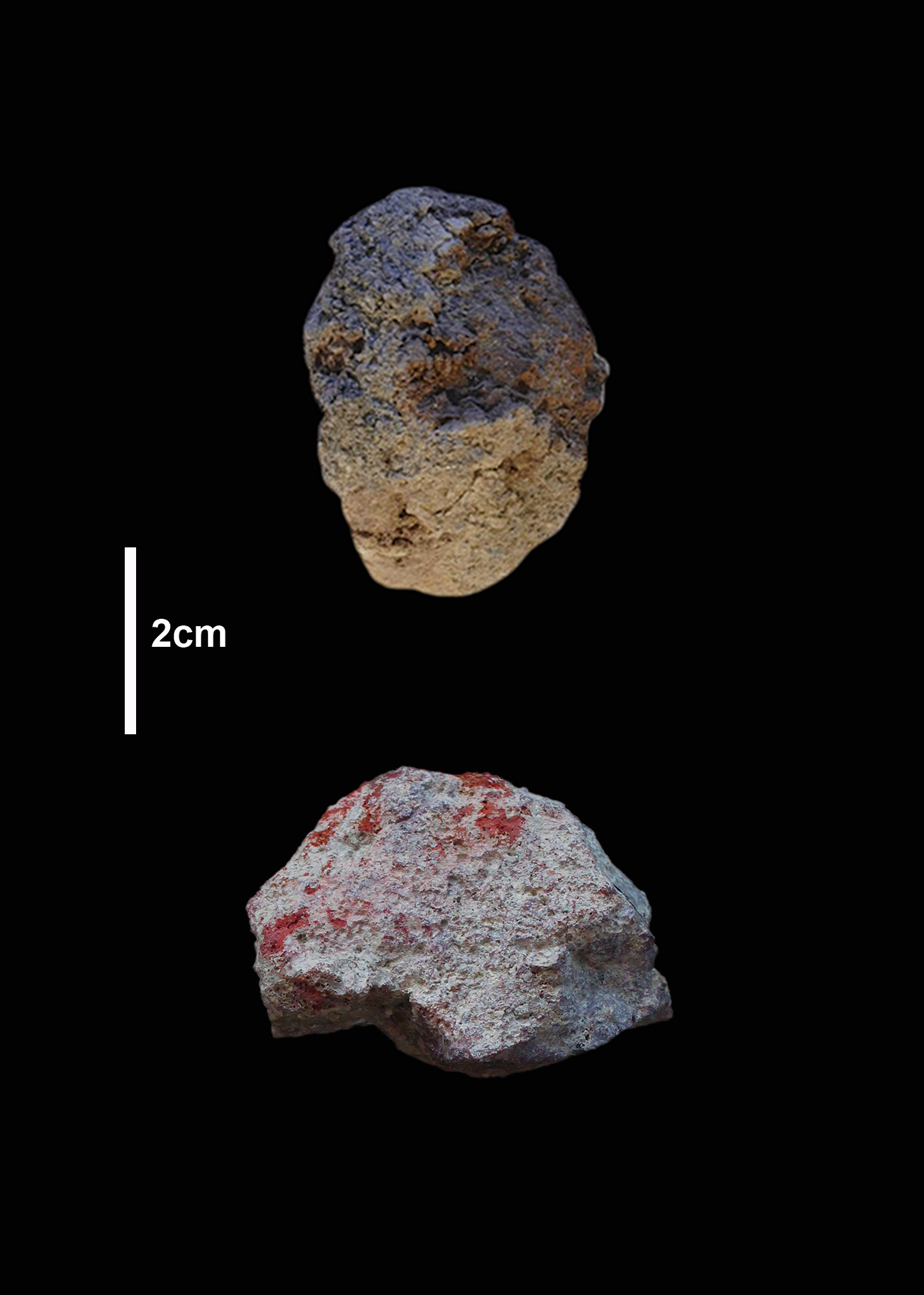 These chunks of rock were probably used to make brown and red pigment 300,000 years ago.