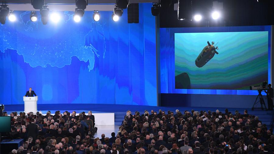 Putin reveals the submarine drone torpedo, officially.