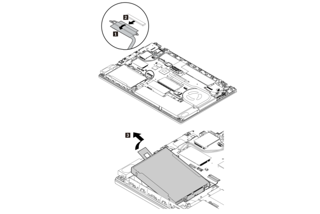 A page taken from the T470 hardware maintenance manual shows off the detailed drawings and step-by-step instructions that explain how to replace just about every part of the laptop.