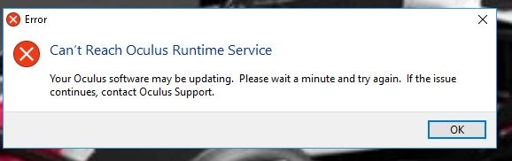 Every Oculus Rift stopped working today thanks to runtime service