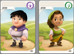 Character cards.