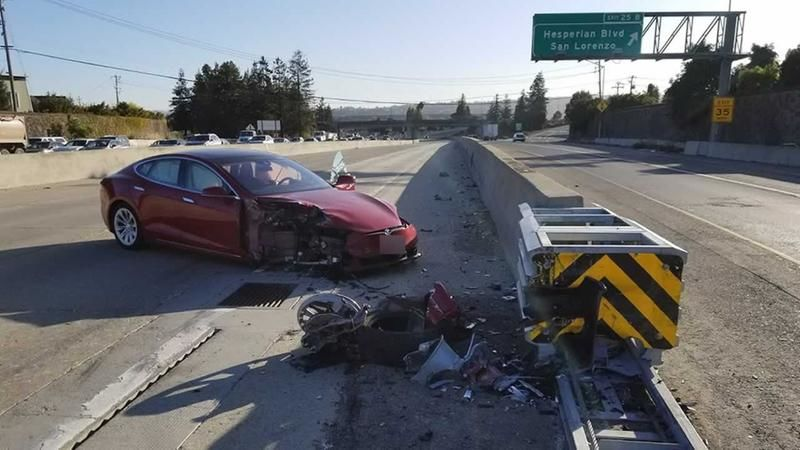 Thanks in part to a functional safety barrier, the damage from the September crash in Hayward was much less severe than last month's crash in Mountain View.