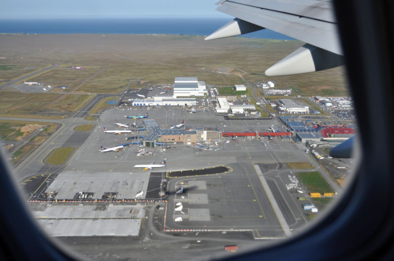 The view taking off from Keflavik International Airport.