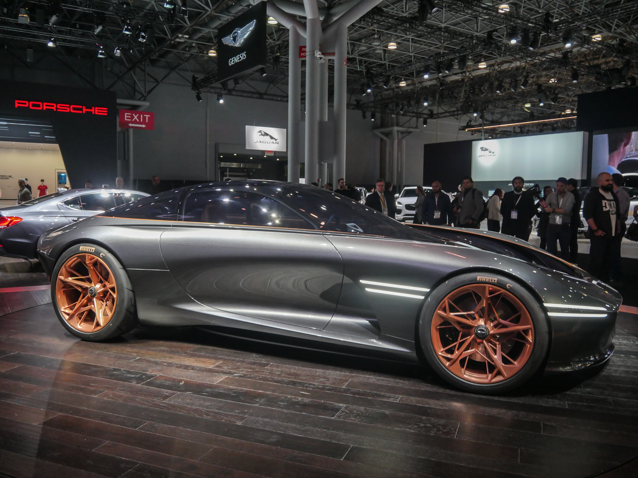 Jawdropping Genesis Essentia Stole The Show In NYand It May Never - Concept car show