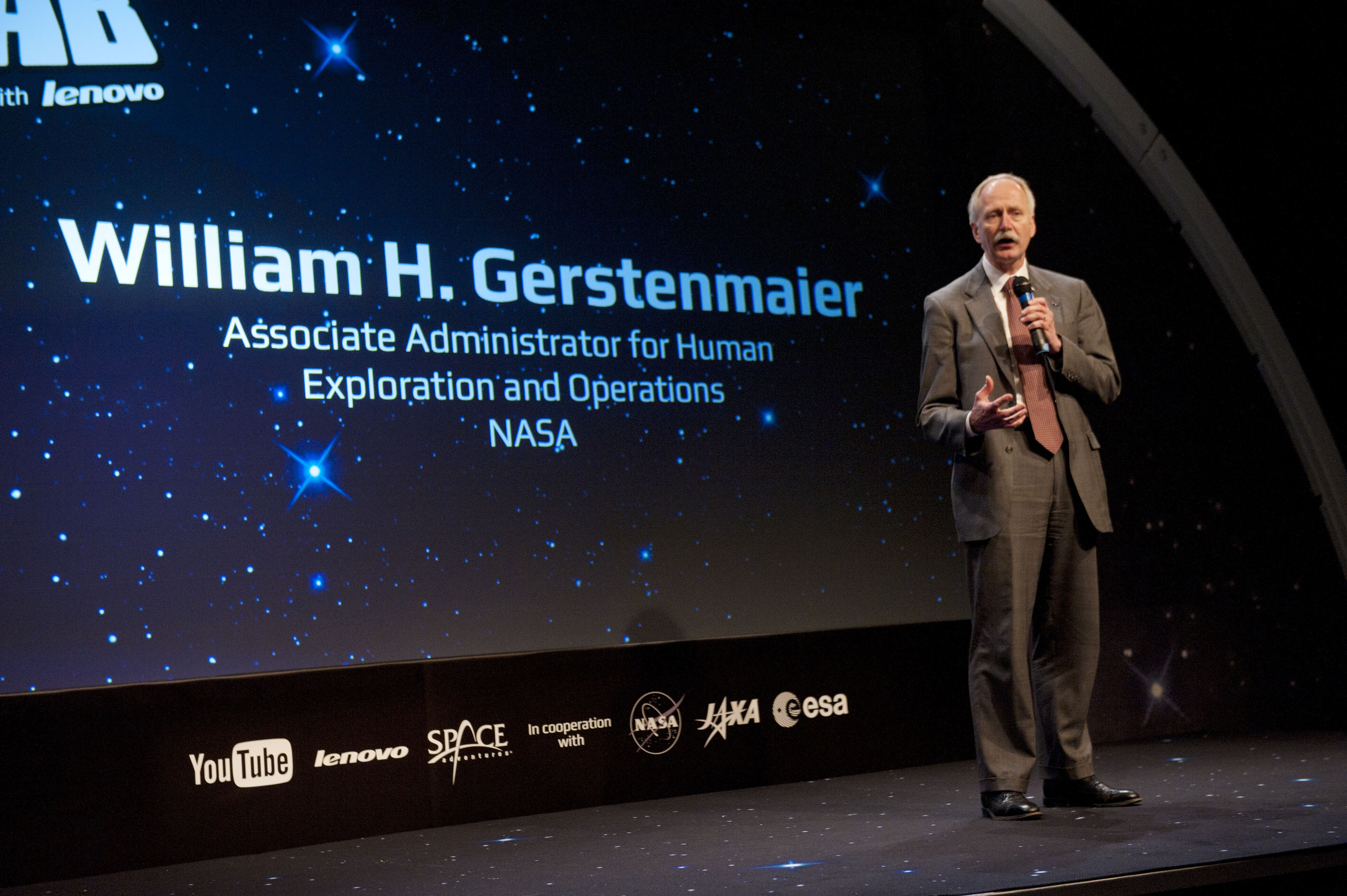 William H. Gerstenmaier oversees human spaceflight for NASA.