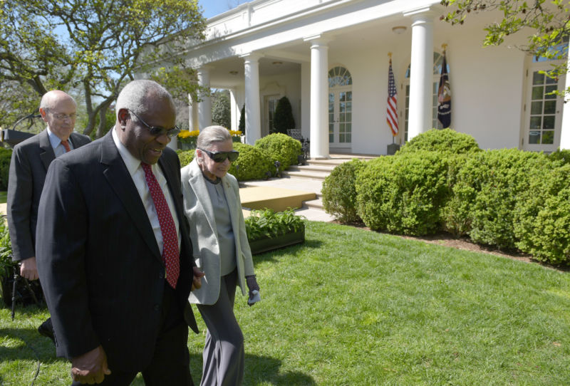 Justice Clarence Thomas, front, wrote the majority opinion.