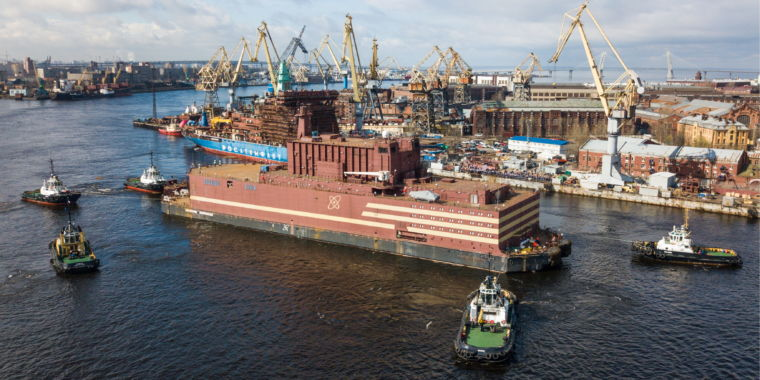 Russia launched a floating nuclear power plant this weekend