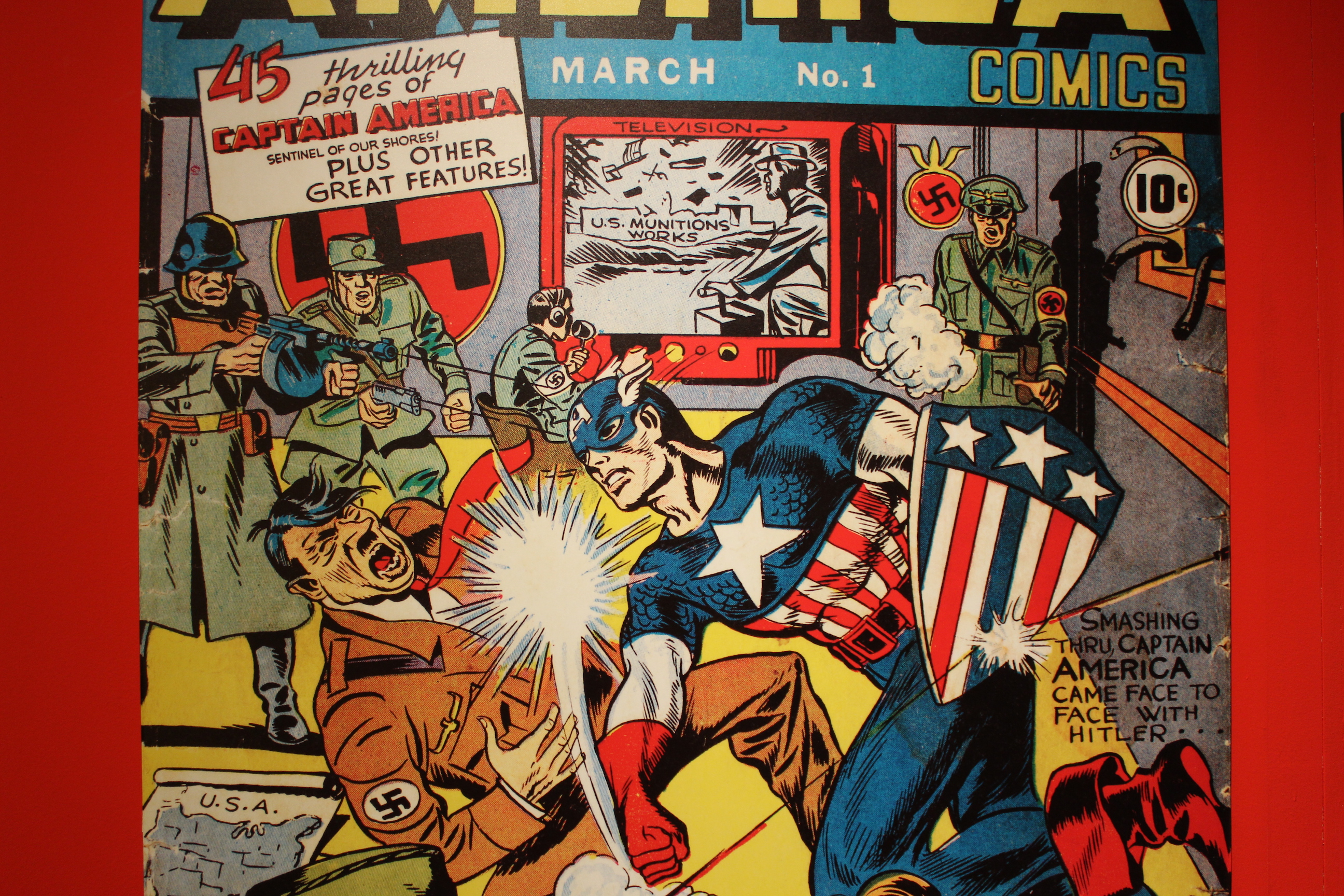 Captain America punching Hitler remains an iconic, museum-worthy bit of art.