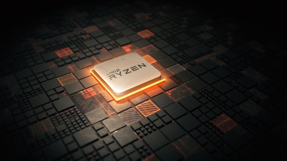 Promotional image of a Ryzen chip