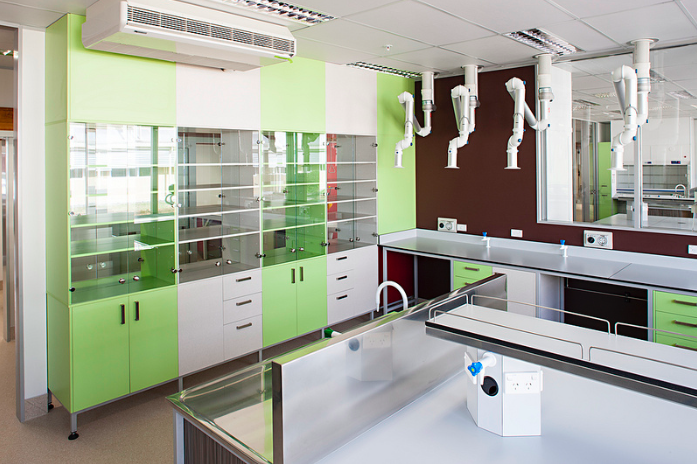 A peek at Scion's Orman Wing lab. The space earned the International Laboratory Buildings category at the 2013 S-Lab International Design Awards. (The award recognizes architectural and functional elements of laboratory design.)