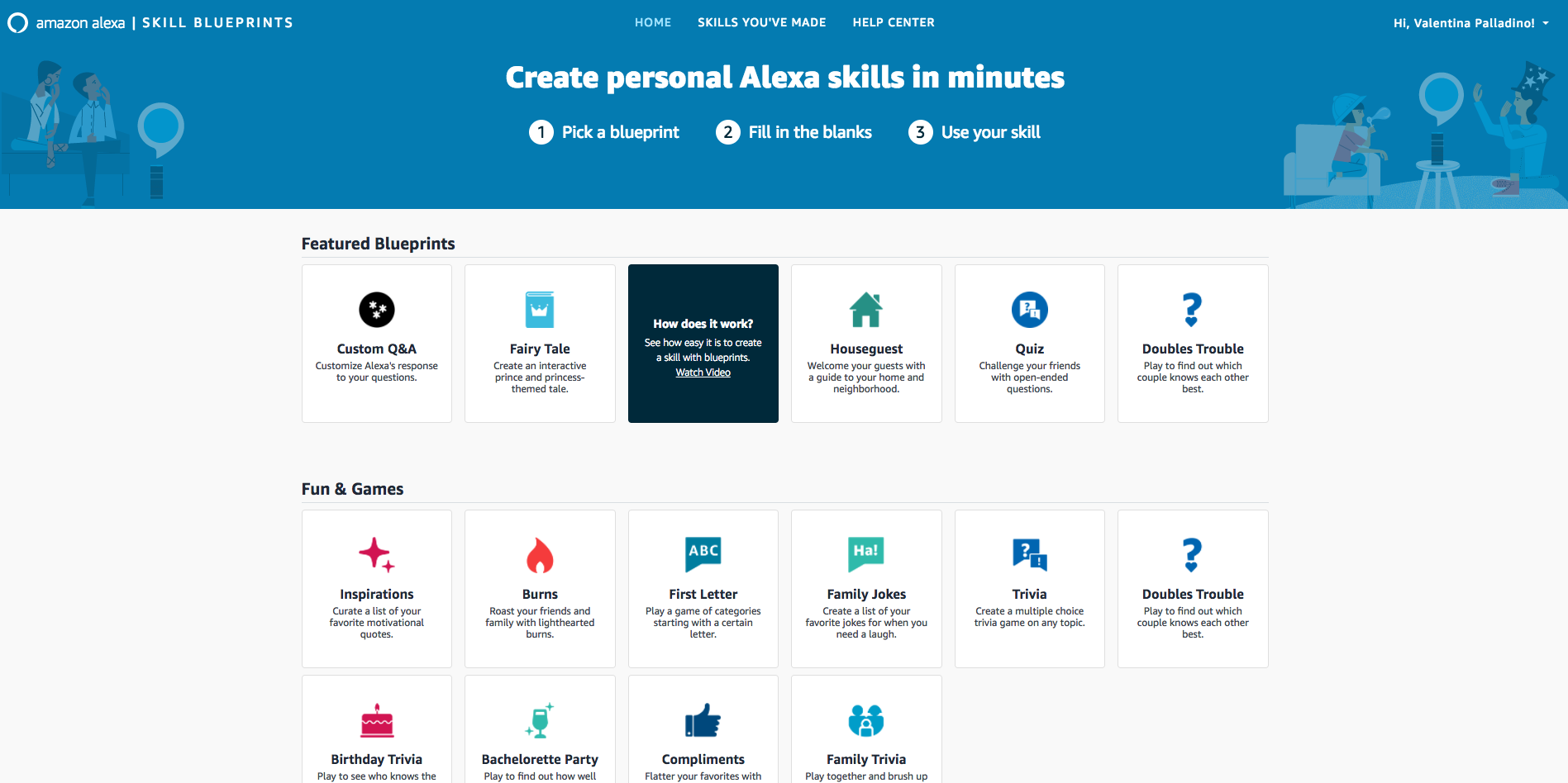 New Alexa Blueprints let users make custom skills without