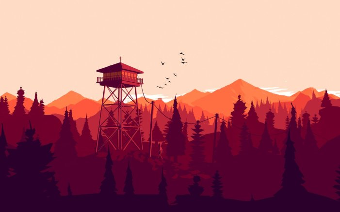 Screenshot from Firewatch.