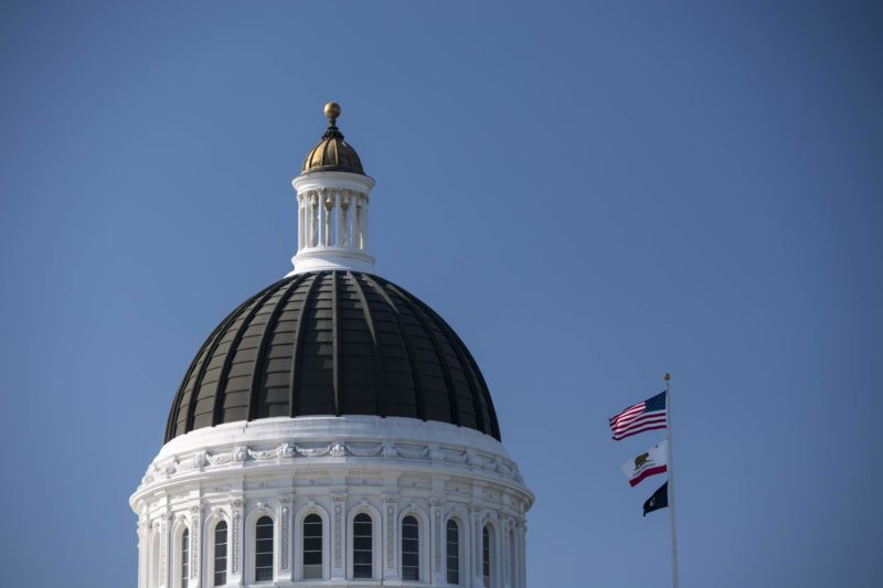 The California State Capitol building in Sacramento.