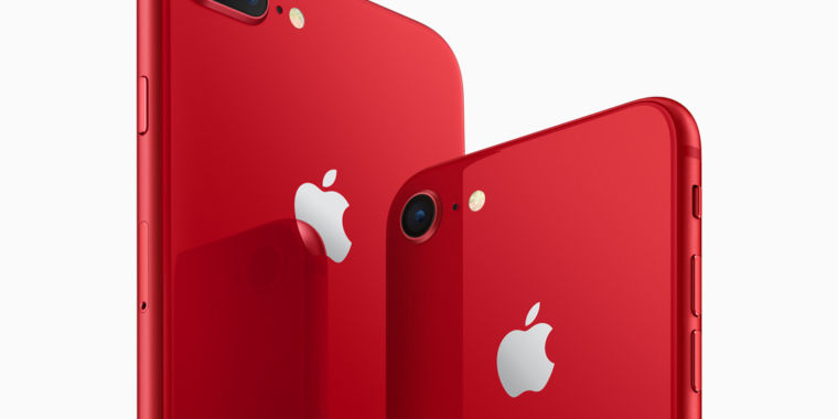 photo image Apple reveals special edition Product Red iPhone 8 and 8 Plus smartphones