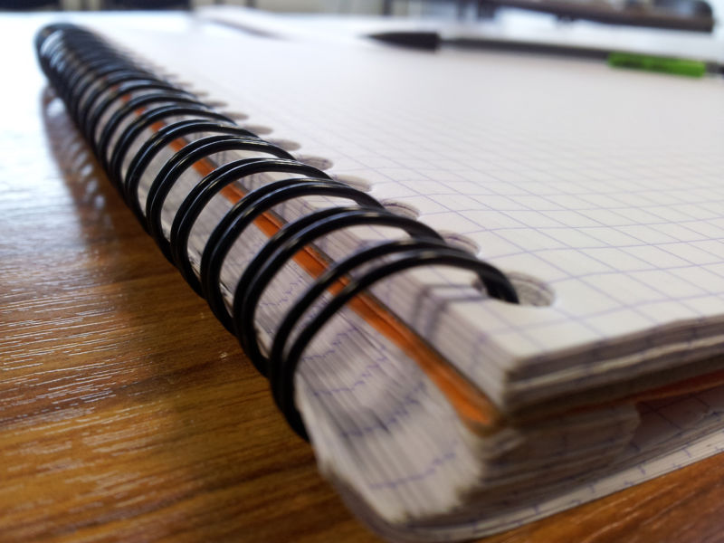 Image of a spiral notebook.