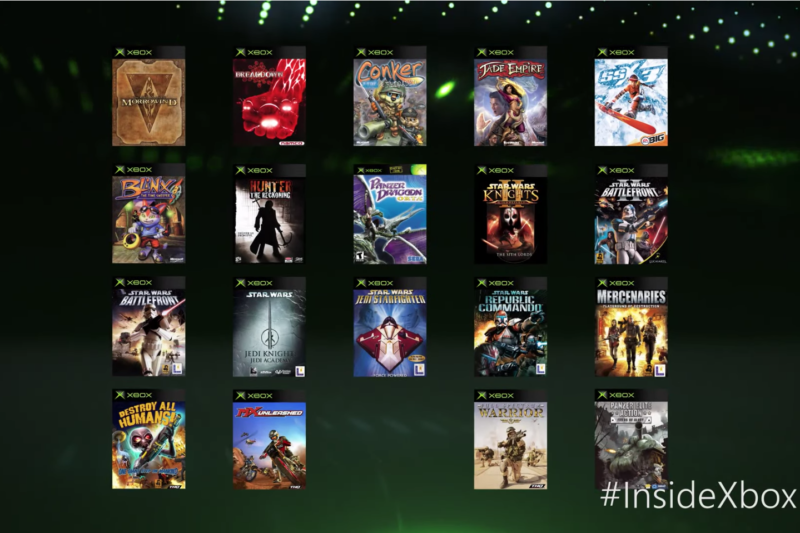 The 19 OG Xbox games coming to Xbox One by the end of April.