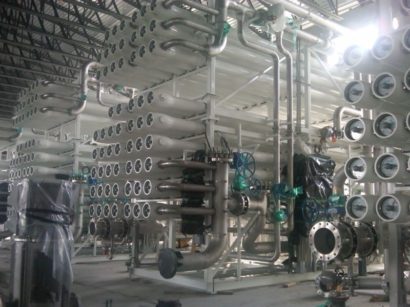 A series tubes used for desalination.
