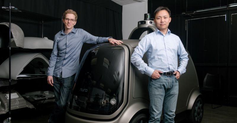 Nuro Founders Dave Ferguson and Jiajun Zhu.