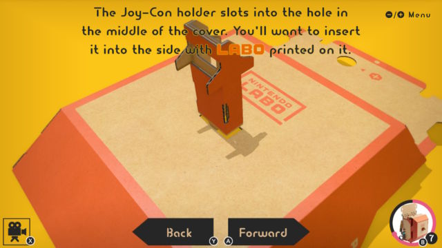 Nintendo Labo tests, part one: Robot Kit's cardboard stomps