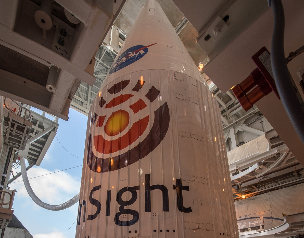 NASA's InSight spacecraft is attached to the Atlas V rocket.