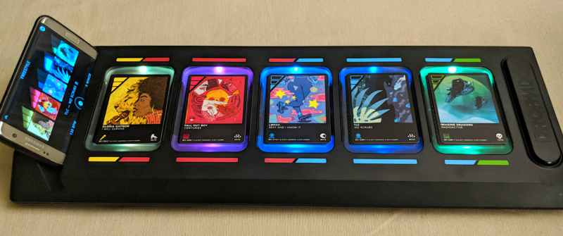 DropMix, complete with phone and cards.