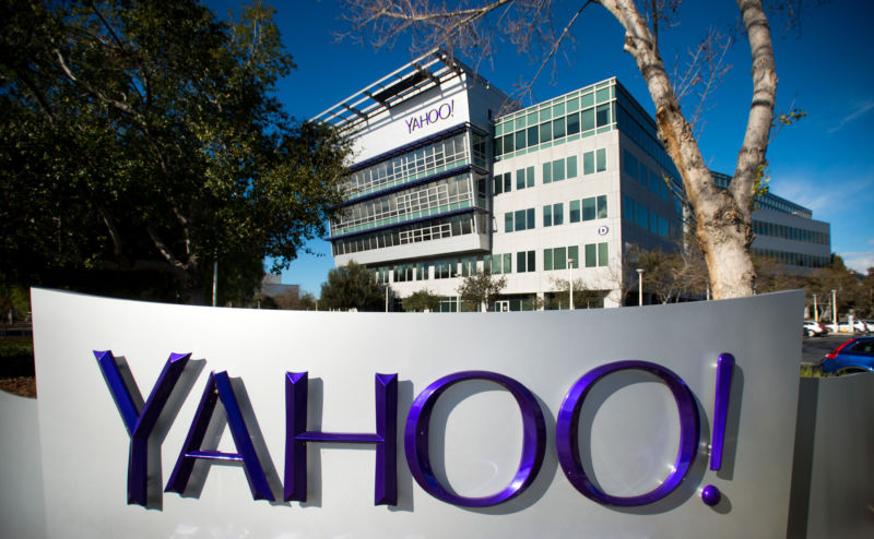 Exterior of Yahoo! headquarters.