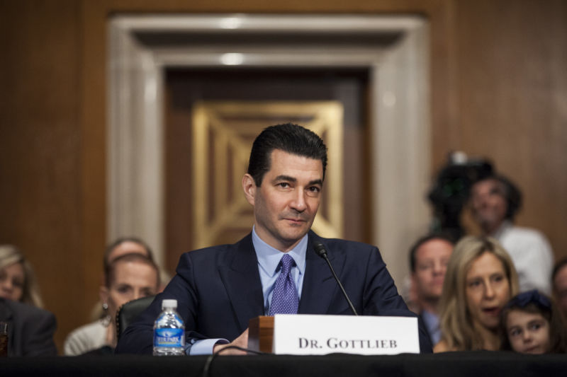FDA Commissioner Scott Gottlieb at a congressional hearing