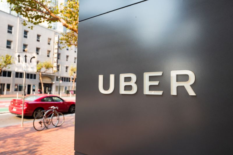 Headquarters of ride-sharing technology company Uber in the South of Market (SoMa) neighborhood of San Francisco on October 13, 2017.