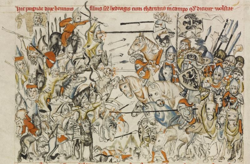Image of the Mongolian horde in battle.