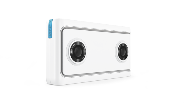 Lenovo Mirage Camera. Two lenses, both 180-degree fisheyes.