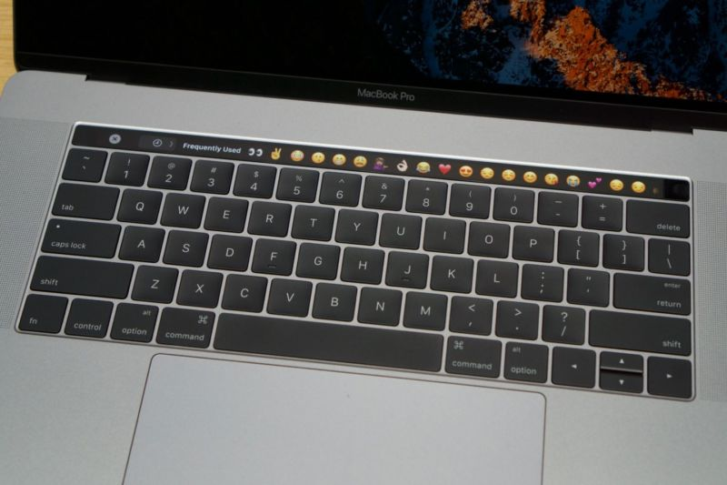 A MacBook Pro keyboard