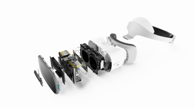 The Lenovo Mirage Solo packs in plenty of hardware, as this exploded view shows.