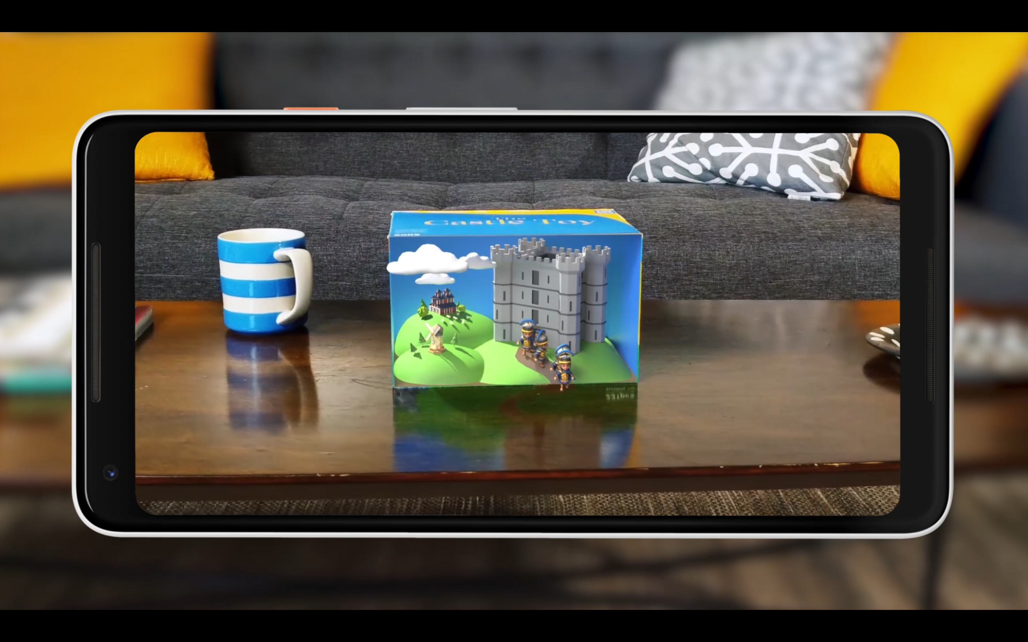 ARCore brings a toy box to life via image recognition.