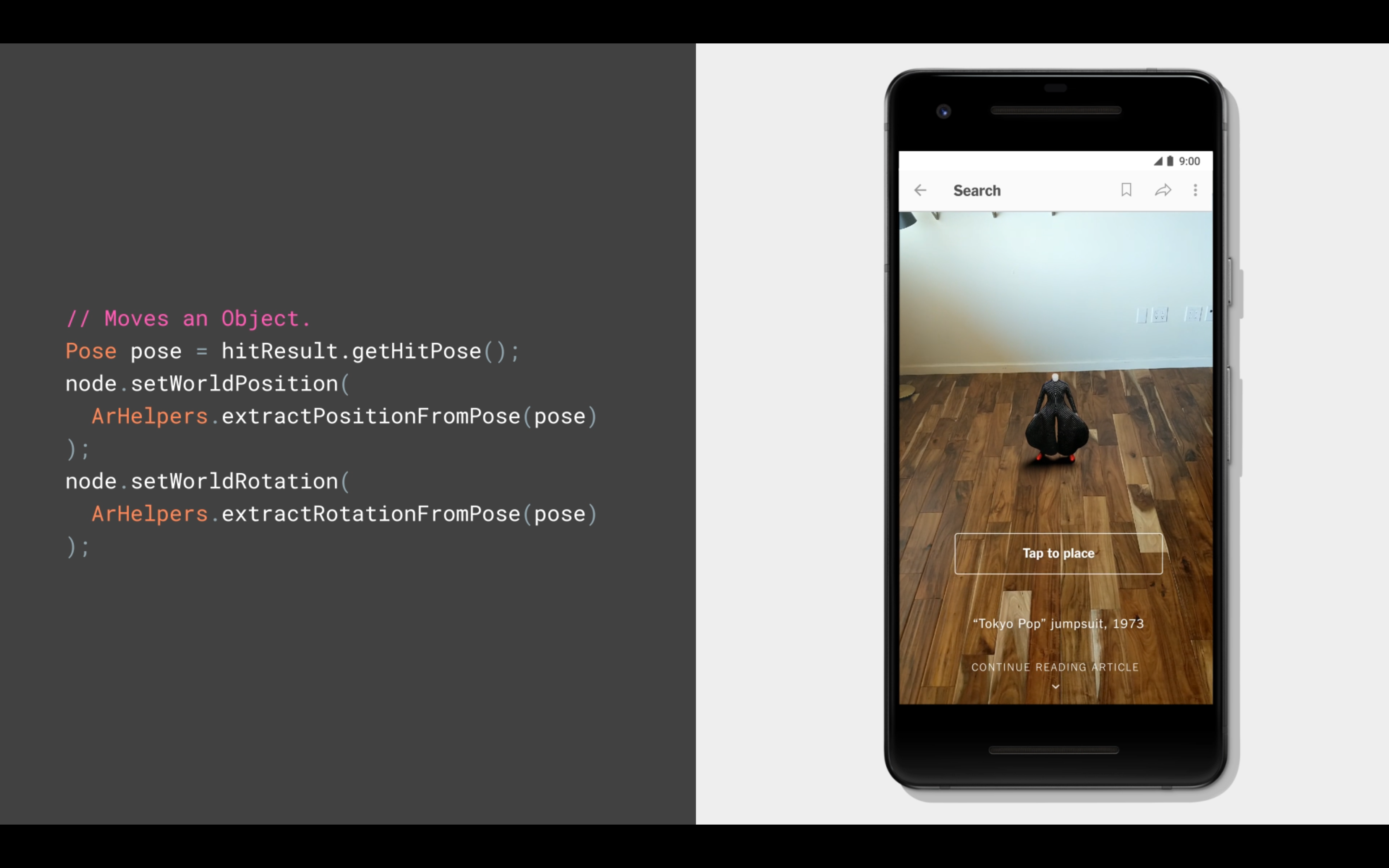 Arcore 1 2 offers sceneform function confined ios for Android ar sdk