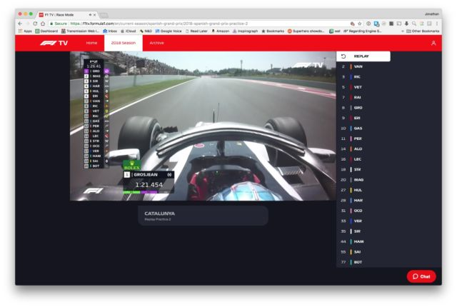 Formula 1 finally launched its livestream—and it was a total