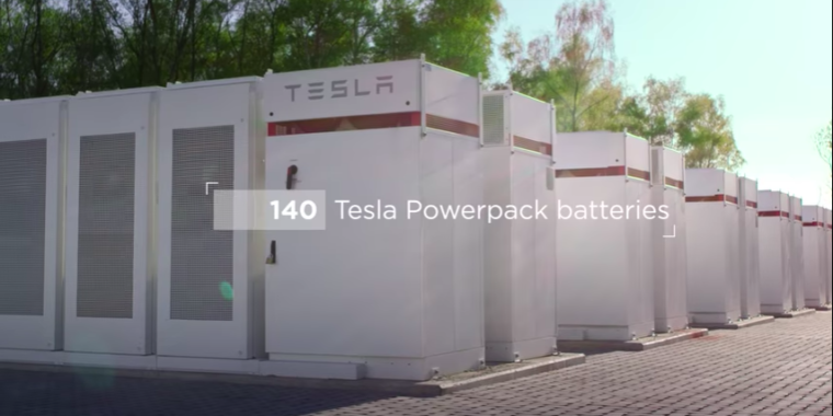 photo image Tesla's new battery in Belgium shows value is in dispatch speed