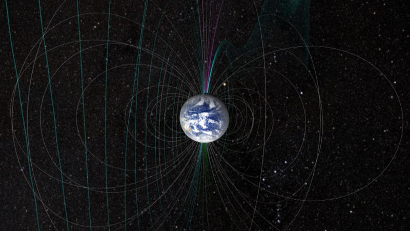Image of Earth's magnetic field lines