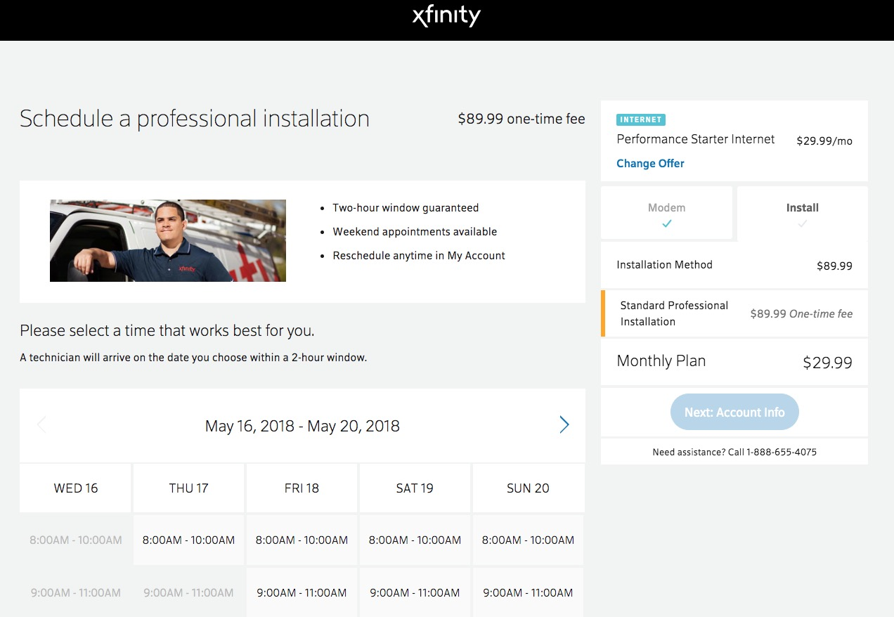 Comcast charges $90 install fee at homes that already have