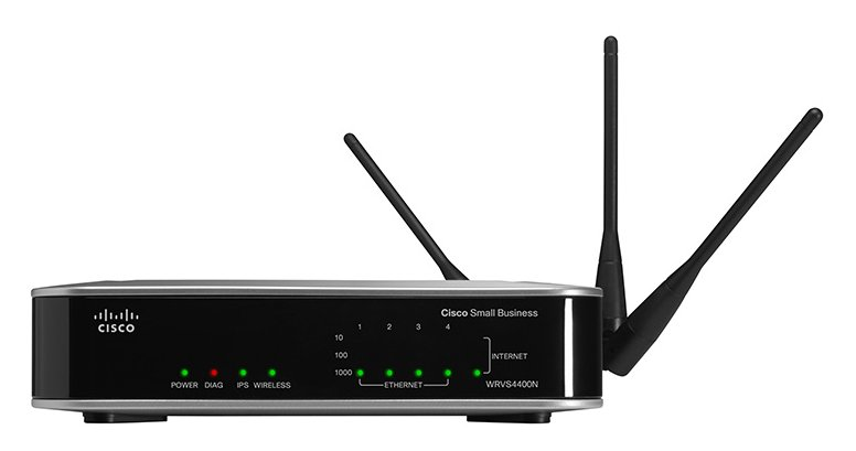 A Linksys WRVS4400N, one of more than a dozen network devices targeted by VPNFilter.