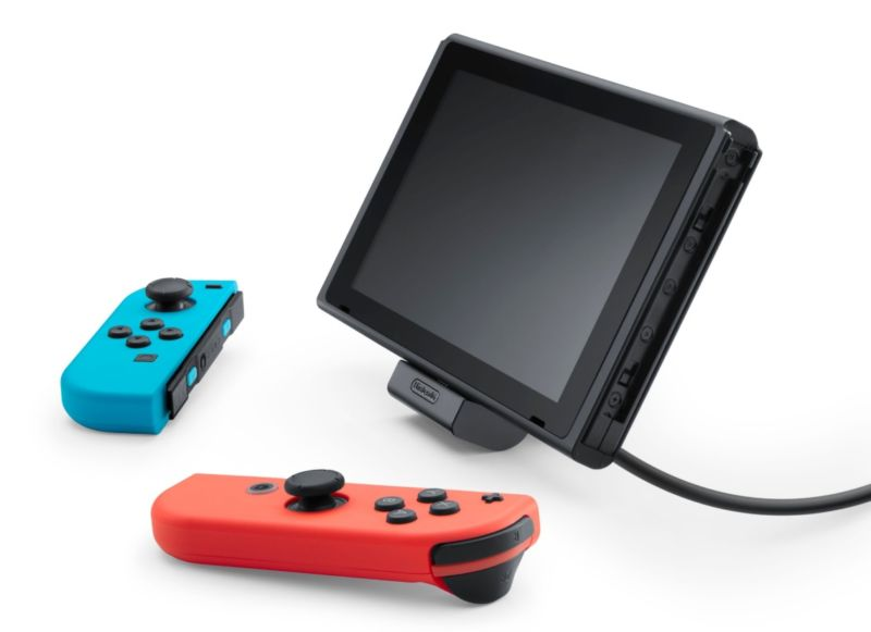A miniature version of the standard Switch dock.