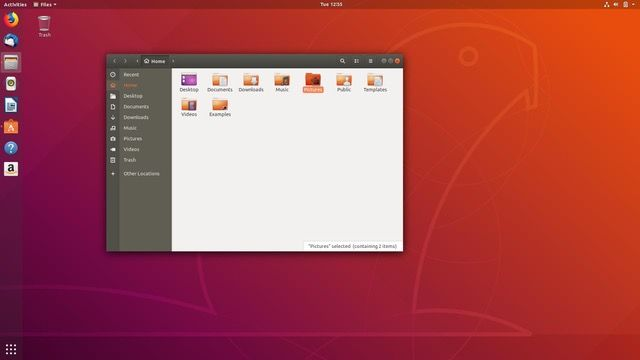 Ubuntu 18.04 features the latest version of GNOME Files and manages to get icons on the Desktop.