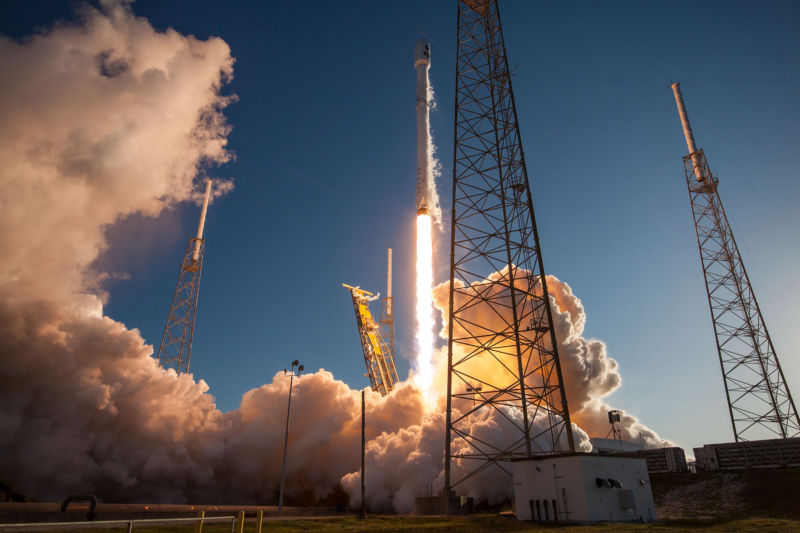 SpaceX rocket carrying AI research blasts off for space station