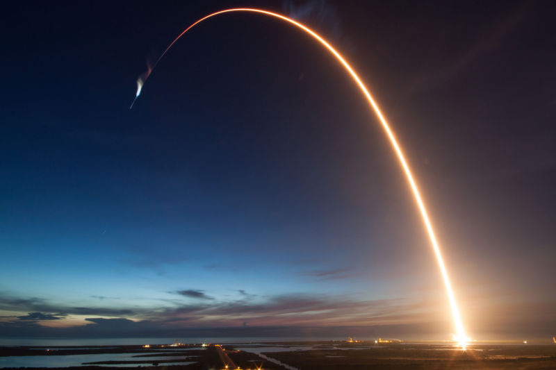 The sunrise launch of SpaceX's CRS-15 mission was spectacular.